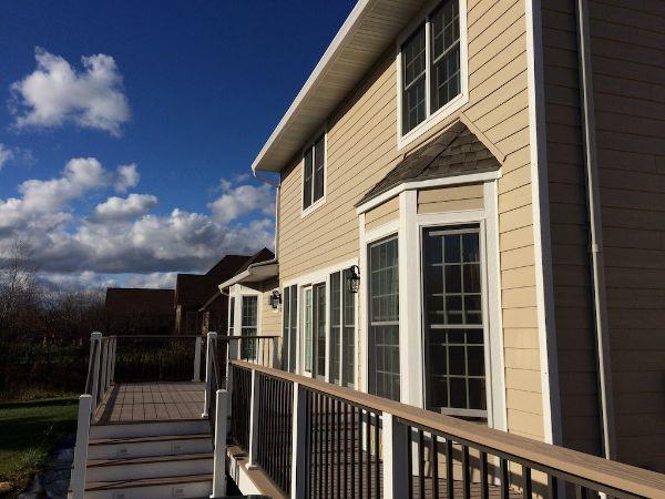Composite Deck With Westbury Handrails