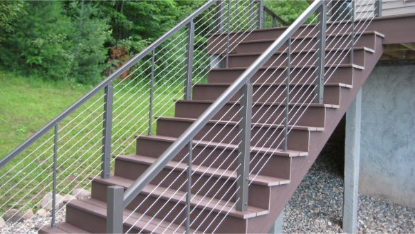 Composite Decking For Stairs And Rail