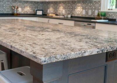 Craftsmen Style Granite Kitchen Island