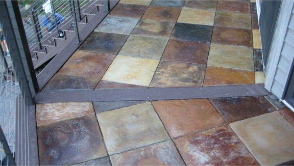 Custom Concrete Tile For Deck