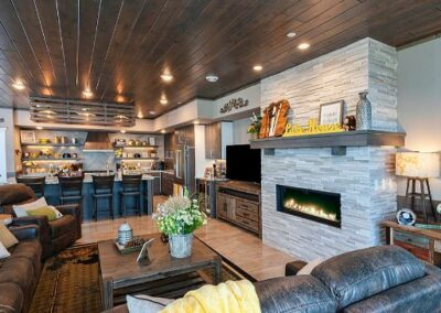 Custom Fireplace Living Area