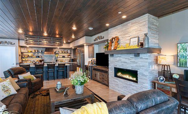 Custom Fireplace Living Area