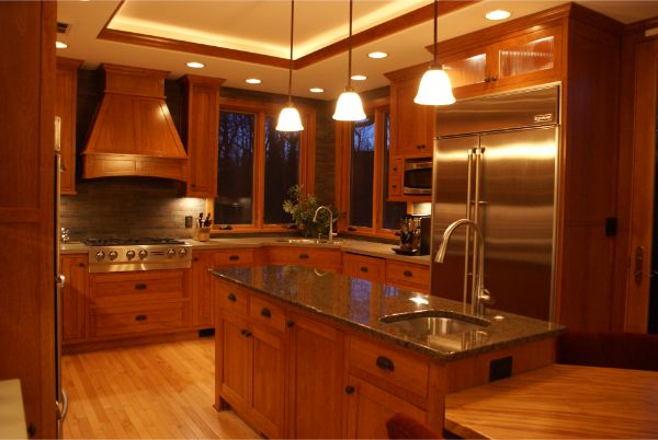 Custom Kitchen Remodel With Island Stainless Appliances