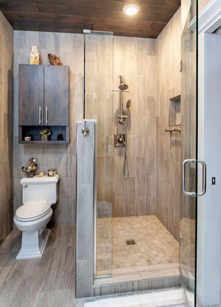 Custom Walk In Shower Remodel With Showerhead