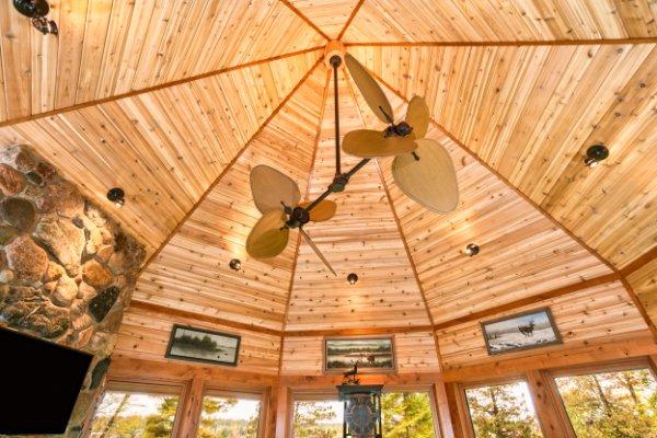 Custom Wood Octagon Ceiling