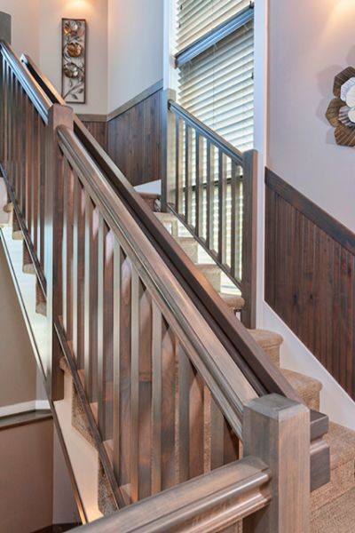 Custom Wood Railing For Staircase