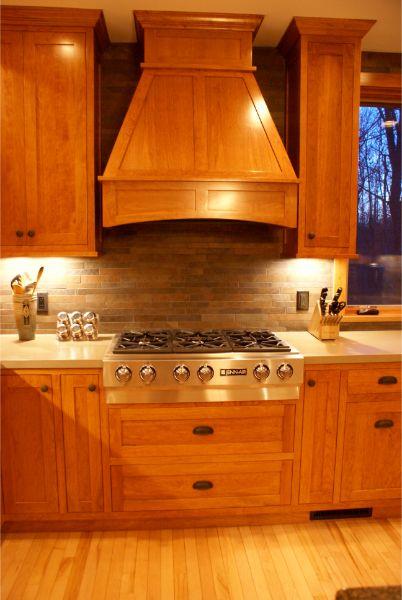 Custom Craftsmen Wood Stove Vent Kitchen