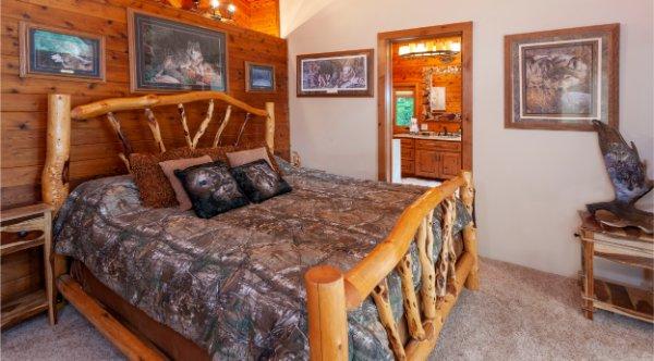 Custom Wooden Bed Frame Detail