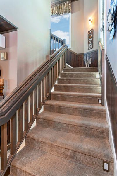 Custom staircase with woodwork
