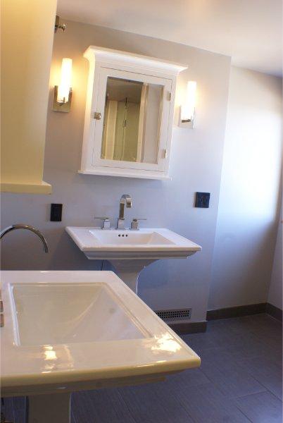 Dual Pedestal Sinks With Vanities