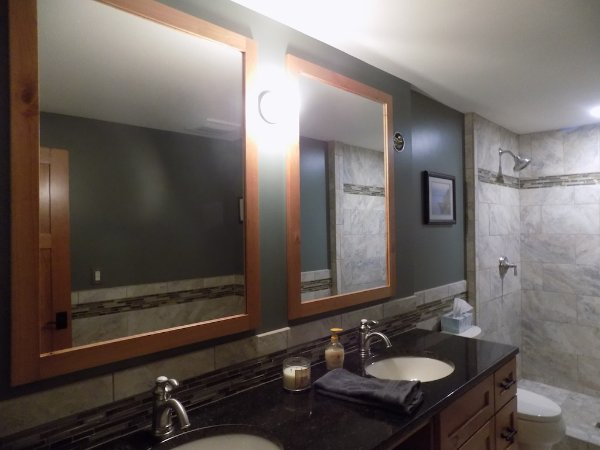 Dual Sink Bathroom Basement Addition
