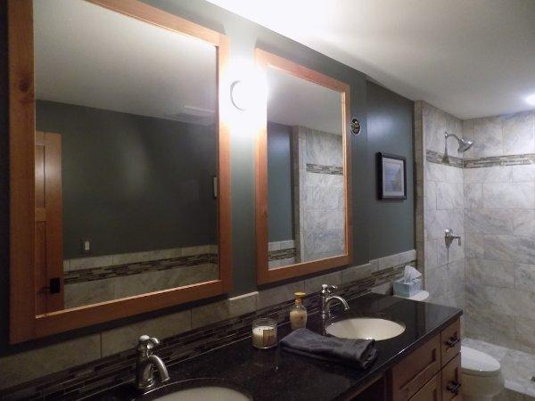 Dual Sink Bathroom Basement Addition