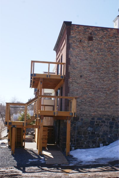 Exterior Two Story Deck Solid