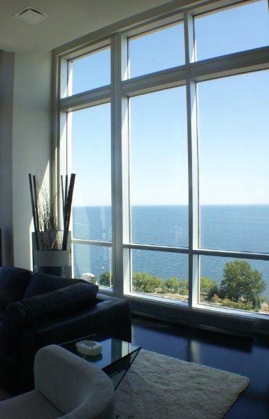 Floor To Ceiling Windows Overlooking Lake Superior