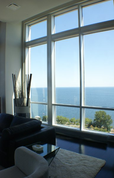 Floor To Ceiling Windows Overlooking Lake Superior