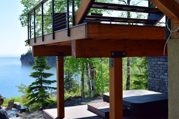 Hardwood Deck Overlooking Lake Superior