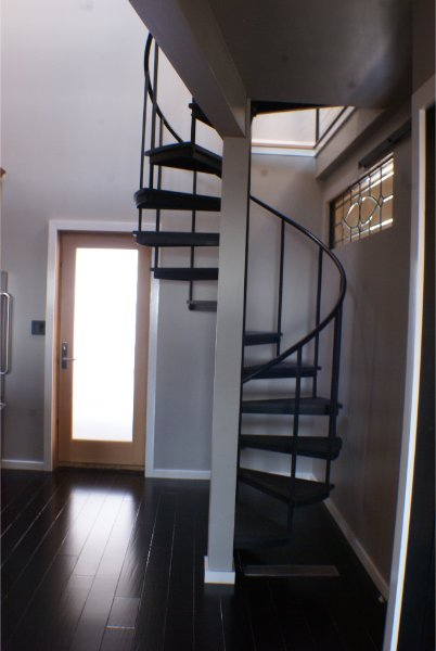Iron Spiral Staircase Space Saver