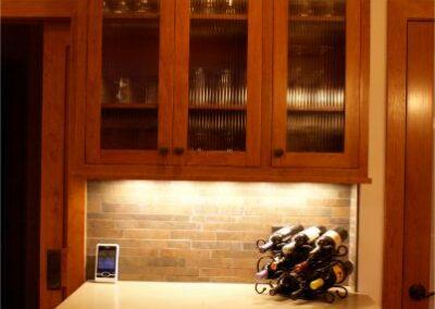 Kitchen Remodel Buffet Wine Bar