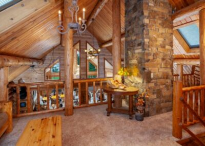 Log Home Upper Landing Area