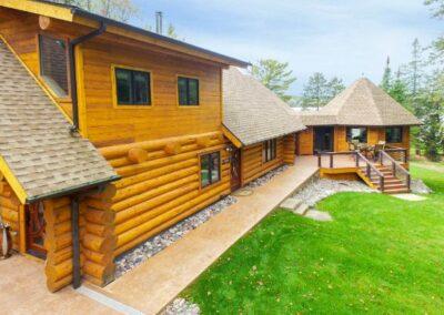 Log Home Walk Around Deck Access