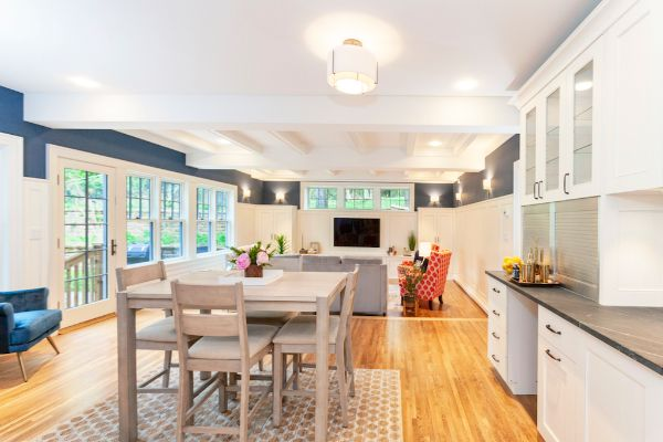 Modern Open Floor Plan Living Transition