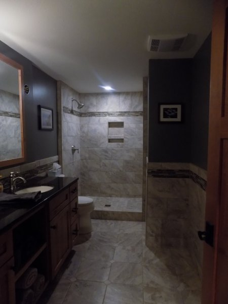 New Basement Bathroom With Shower