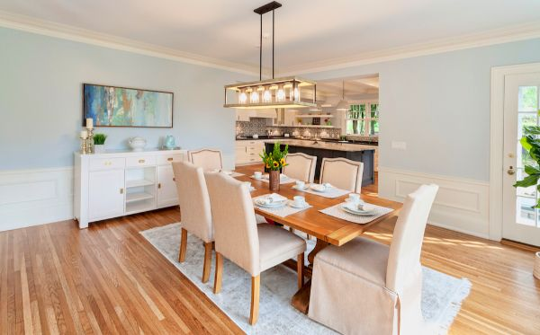 New Clean Dining Room Remodel