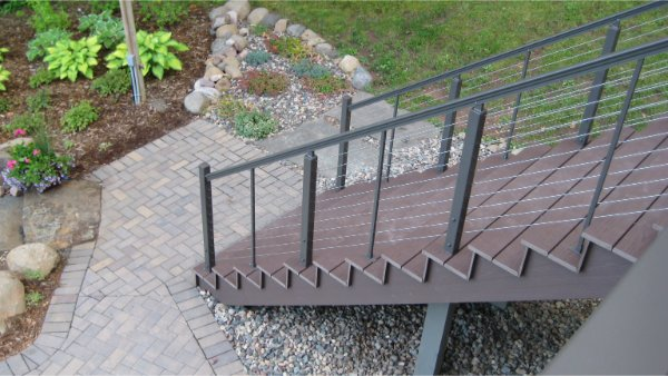 New Deck Stairs With Modern Rail