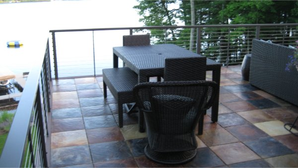 New Deck With Concrete Tiles