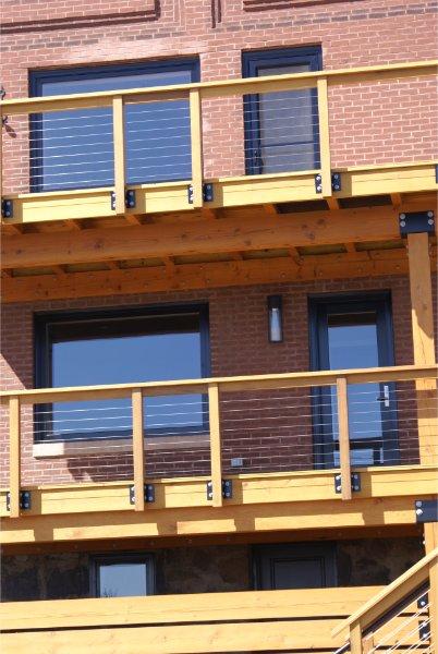New Wood Deck And Railing