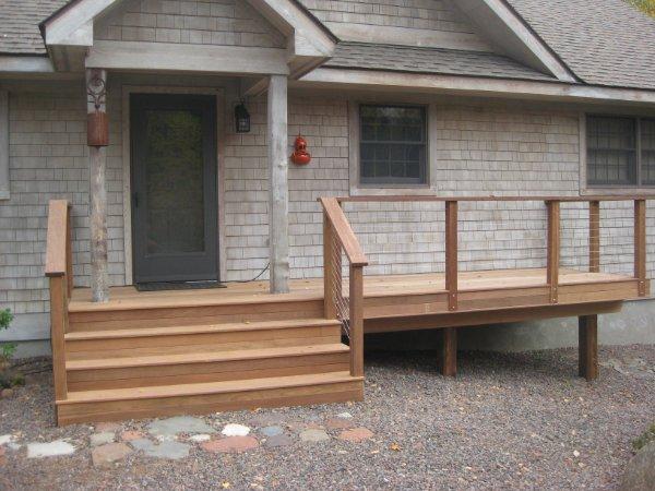 Simple Front Porch Deck Addtion