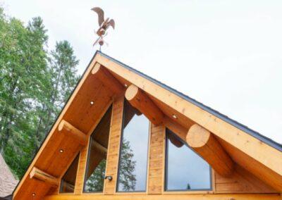 Timber Frame Log Cabin Roof Line Straight