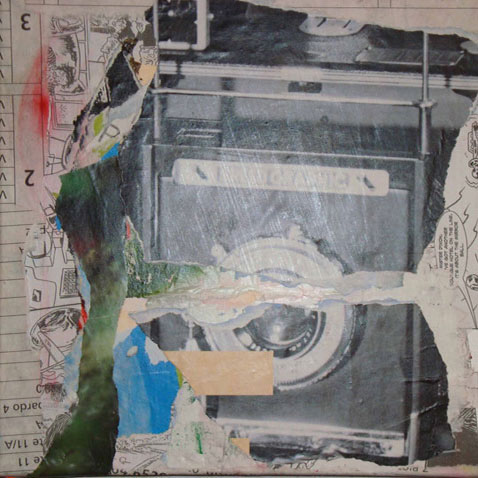 Camera 40cm x 40cm mixed media on canvas