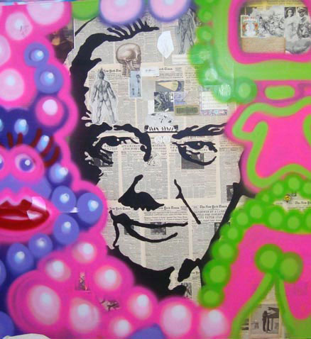 Walter 72 inches x 72 inches mixed media on canvas