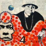 alain cool j 36 inches x 54 inches mixed media on mdf