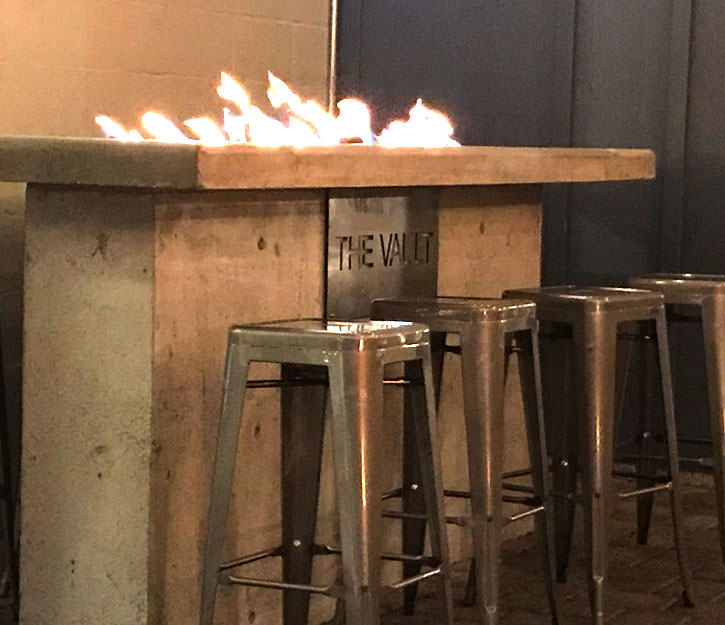 gas table at kobold brewing vault taphouse