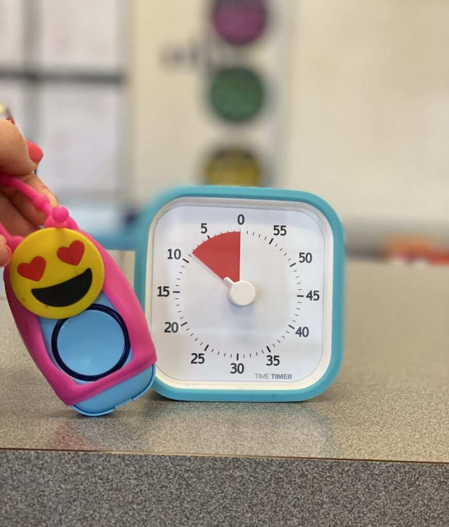 picture of classroom timer and classroom doorbell switch