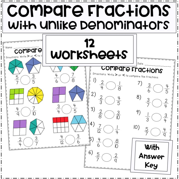 compare-fractions-with-different-denominators-worksheet-preview-picture-Slide1