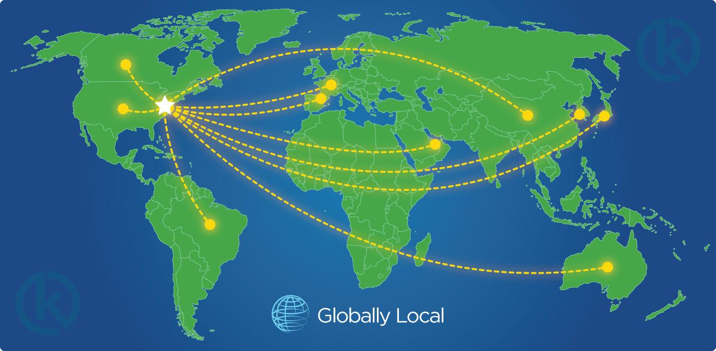 Kimes Technologies Worldwide Distribution Map