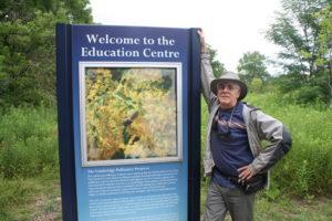 Jim Dyer at the Cambridge Pollinator Preserve Education Centre.