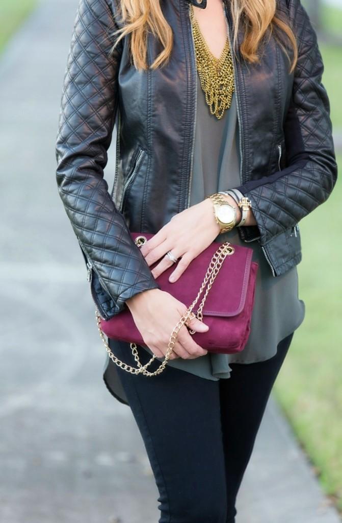 Olive Tunic and Moto Jacket
