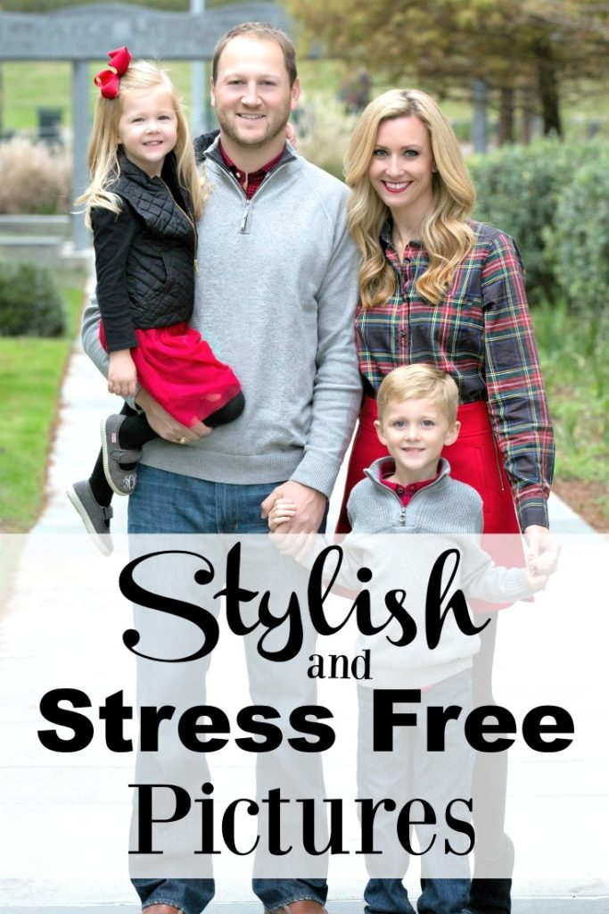 Stylish stress free family pictures