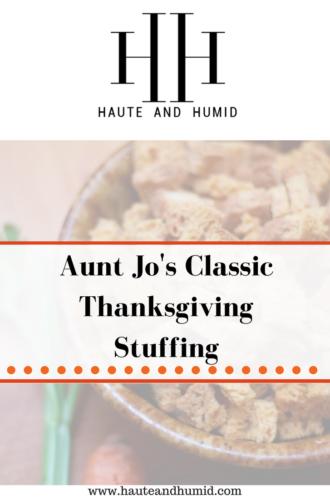 Aunt Jo's Delicious Stuffing Recipe