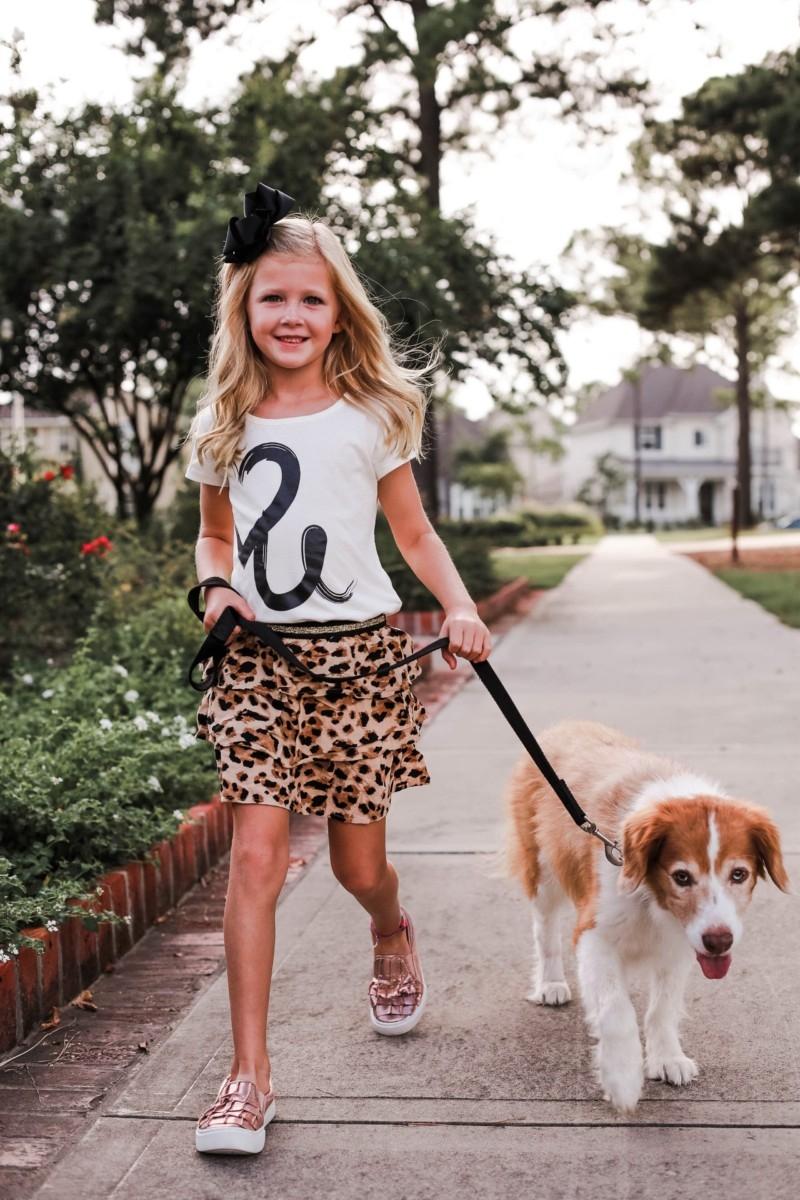 animal print girl skirt
