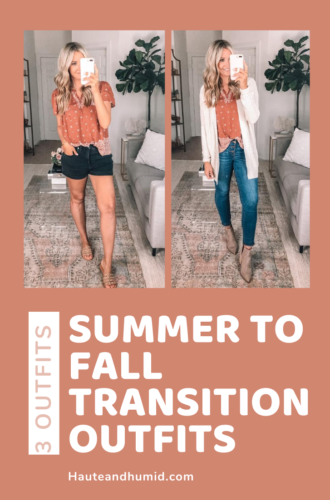 3 Summer To Fall Transition Outfits