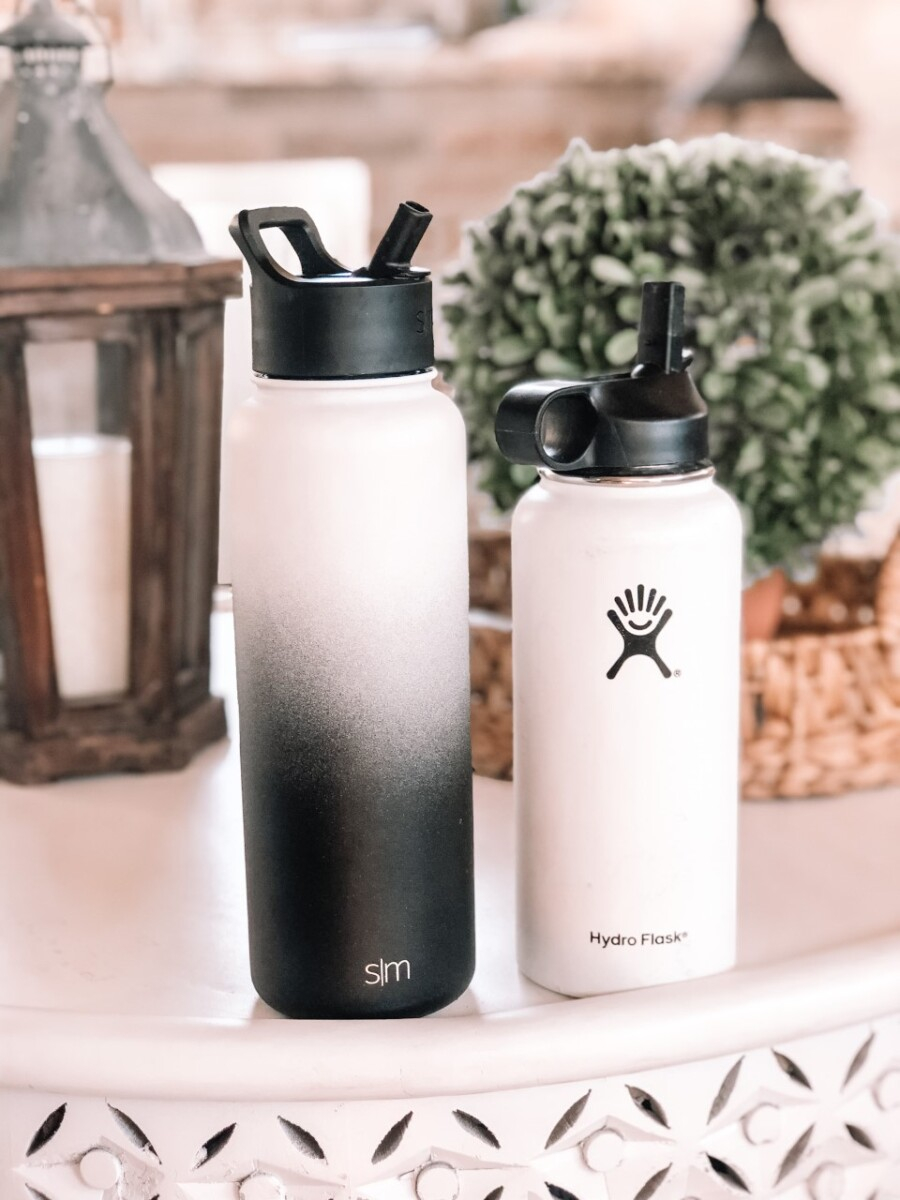 hydroflask dupe   Best Amazon Products by popular Houston life and style blog: image of a reusable water bottle.
