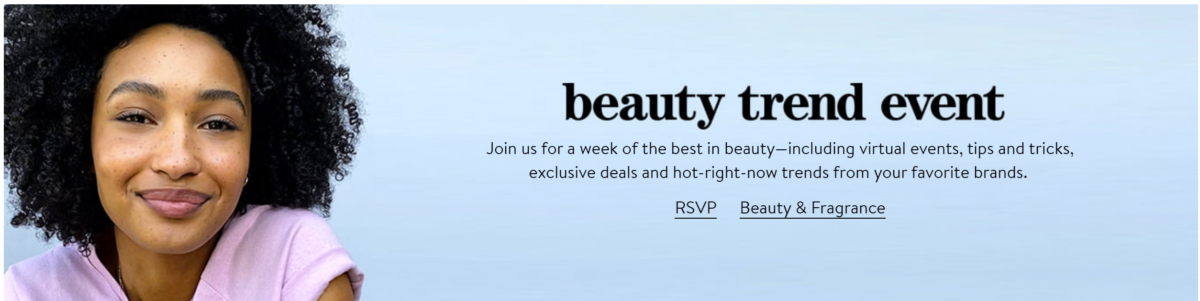 beauty trend event | Nordstrom Beauty by popular Houston beauty blog, Haute and Humid: digital ad for the Nordstrom beauty trend event.
