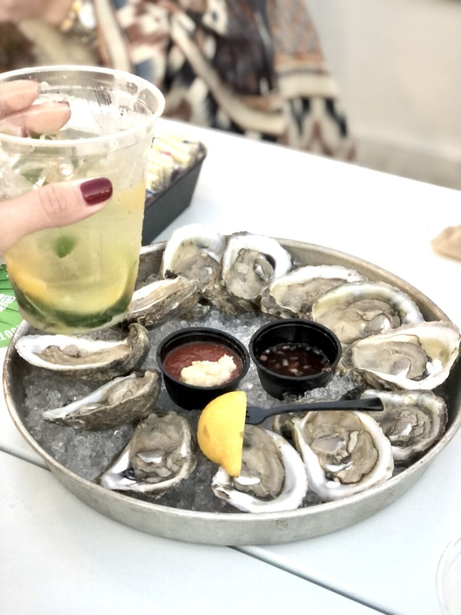 destin restaurants |Florida Beach House Rental by popular Houston travel blog, Haute and Humid: image of a plate of oysters.