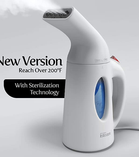 portable steamer |Amazon Bestsellers by popular Houston life and style blog, Haute and Humid: image of a isteam portable hand steamer.