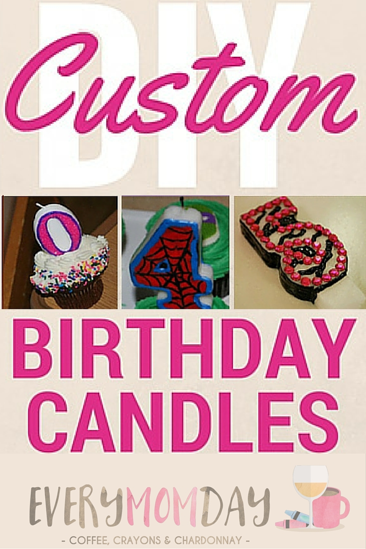 Customize any number candle with any theme! EveryMomDay.com